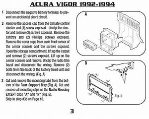 1994 Acura Vigor Installation Parts Stereo Kits  Harness