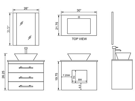 Small Vanity Sink Dimensions by 30 Quot Portland Vessel Sink Vanity Espresso Bathgems