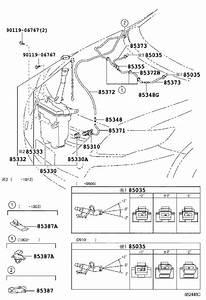 Toyota Corolla Washer Fluid Reservoir  Jar  Windshield