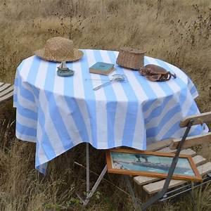 Nappe Toile Enduite : nappe enduite bleue toile enduite 100 coton rayures d couvrez tous nos mod les ~ Teatrodelosmanantiales.com Idées de Décoration