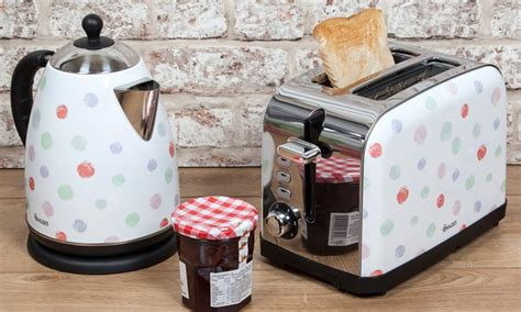 polka dot toaster and kettle swan kettle and two slice toaster groupon goods