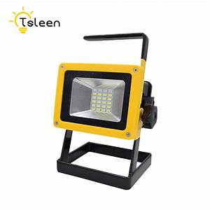 Emergency battery flood lights : Tsleen rechargable luminous waterproof ip w led