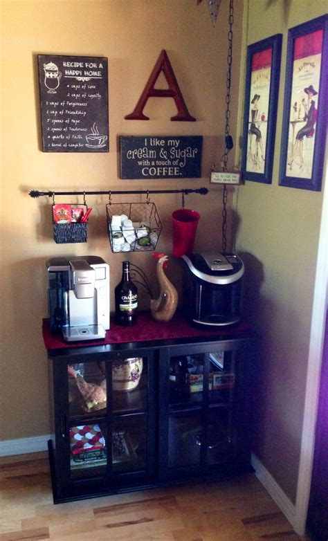 For private persons and small companies. Love my Coffee Bar!   Diy Coffee bar Ideas ♡   Pinterest