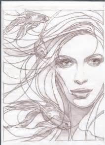 Realistic Mermaids Drawings Sketches