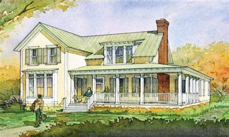 southern living house plans farmhouse  story house