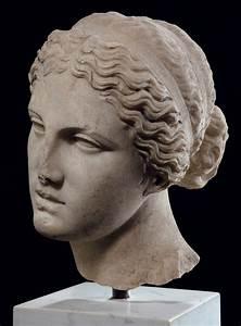A, Roman, Marble, Head, Of, Aphrodite