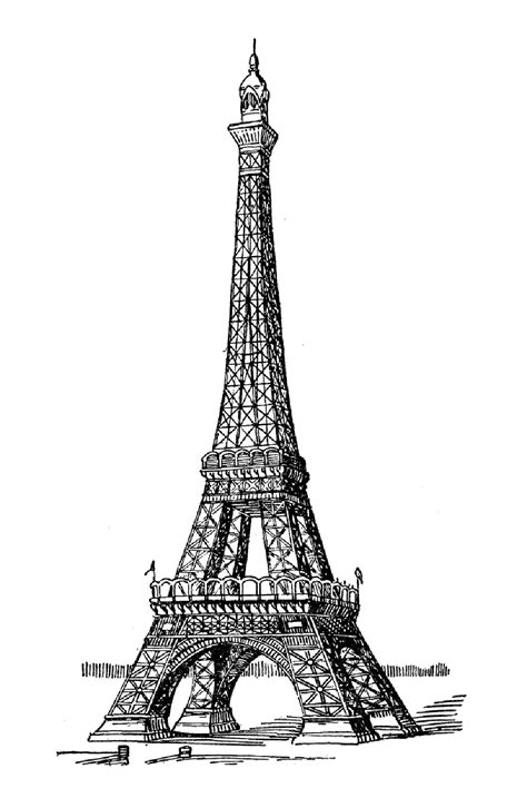 eiffel tower color eiffel tower coloring pages