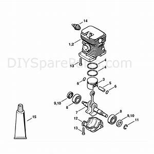 Stihl Ms 170 Chainsaw  Ms170d  Parts Diagram  Cylinder