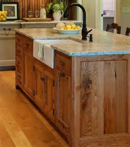 Sink Island Kitchen Substantial Wood Kitchen Island With Apron Sink Single Handle Rubbed Bronze Faucet