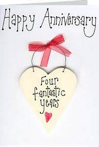 Happy 4th Anniversary | Happy 4th anniversary, 4th wedding ...