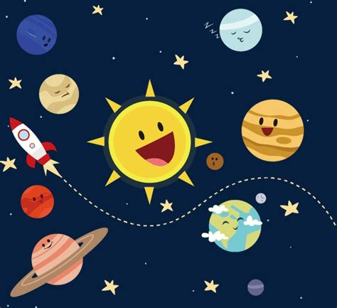 Outer Space Background Images Universo De Dibujos Animados Universo Star Sistema Solar Png Y Vector Para Descargar Gratis