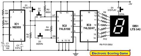 Scoring Display With Segment Led Circuit Scheme