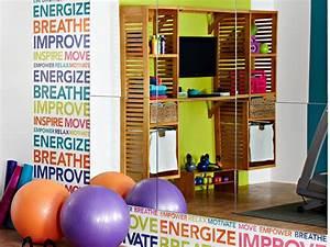 Wonderful Home Gym Ideas With Wall Glass