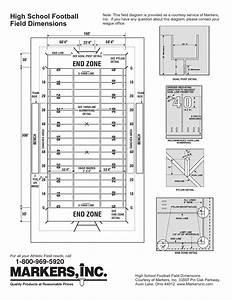 31 High School Football Field Diagram Printable