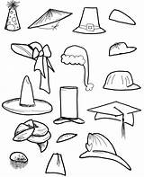 Hats Coloring Hat Pages Cap Printable Drawing Activities Templates Winter Around Different Caps Sheet Drawings Children Sheets Painting Crazy Clip sketch template