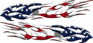 american flag flames vinyl auto decal graphic xtreme With decals and lettering and graphics