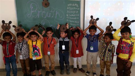 brown color day celebrations vydehi school