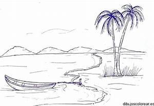 Dibujos de playas para colorear Colorear imágenes