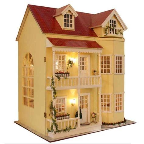 diy maison de poup 233 es en bois miniature fabriqu 233 kit large villa mod 232 le meubles bo 238 te 224