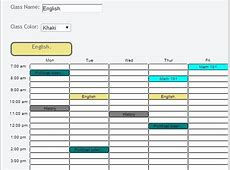 5 free websites to create timetable online