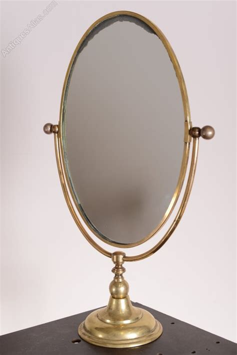 antiques atlas large edwardian antique brass vanity mirror
