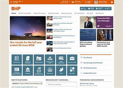 Intranet Trends Sharepoint Bhp Features Homepage Web