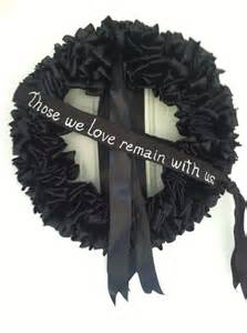 wreath mourning wreath black ribbon 18 inch by bittersweetdesign