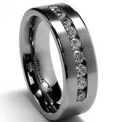 mens black wedding rings black titanium wedding rings for unique and durable