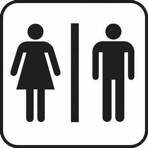 large man woman bathroom sign clip art at clkercom With men and women bathroom symbols