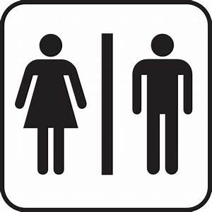 Large man woman bathroom sign clip art at clkercom for Men and women bathroom symbols
