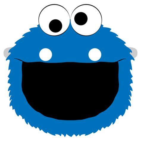 cookie monster mask template  printable papercraft