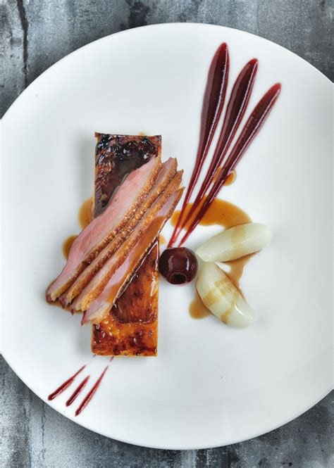 breast of duck with a tarte of caramelised endive and
