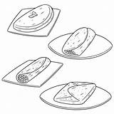 Omelett Omelet Omelette Clip Vector Illustrations Vektoruppsaettning Av Illustrationer Clipart Foer Pa sketch template