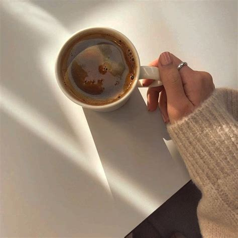 Coffee café light beige white light aesthetic beige aesthetic minimalistic clothes kawaii ethereal beauty japanese aesthetic korean fashion style street style white aesthetic r. 𝓃. ️ on Twitter   Coffee photography, Aesthetic coffee, Coffee love
