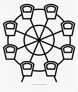 Ferris Dart Coloring Wheel Board Line Kindpng sketch template
