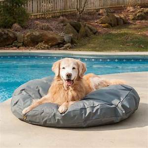 replacement cover outdoor waterproof round dog bed With outdoor covered dog bed