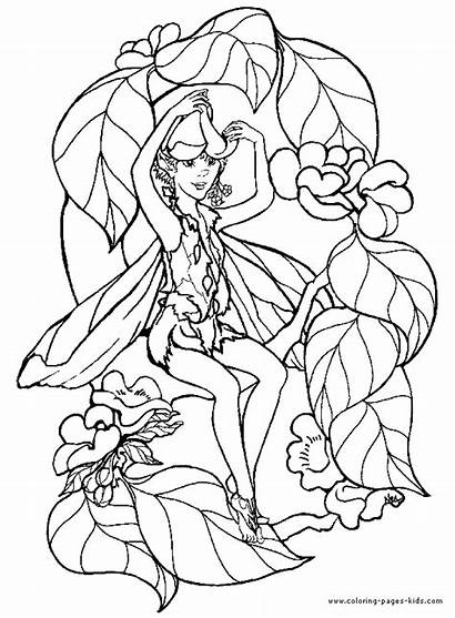 Coloring Fantasy Pages Elves Adults Printable Fairy