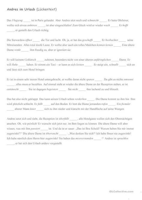 andres im urlaub  images worksheets printables