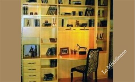 bibliothèque bureau intégré meuble bibliothèque modulaire avec bureau intégré la
