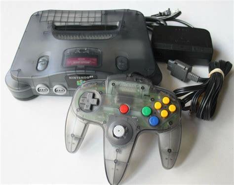 nintendo n64 console nintendo 64 n64 smoke grey console system only funtastic