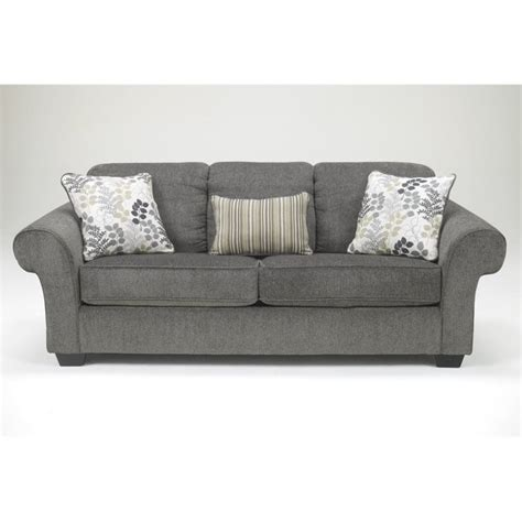 ashley makonnen chenille sofa in charcoal 7800038