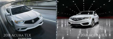 difference between the 2018 acura tlx vs 2018 acura ilx