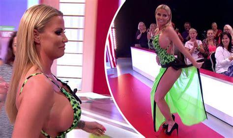 Katie Price risks nip slip live on Loose Women as she