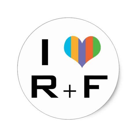 I Love R+f Classic Round Sticker