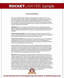 commercial sublease agreement office space sublease With commercial sublet lease agreement template