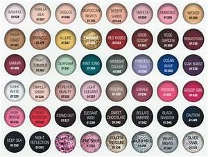 Gelish Gel Nail Polish Color Chart