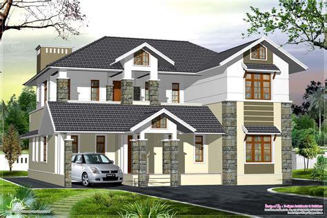 luxury kerala style villa exterior design house design plans