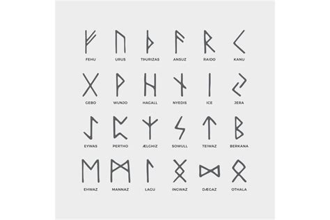 retro norse scandinavian runes sketch celtic ancient letter  illustrations design