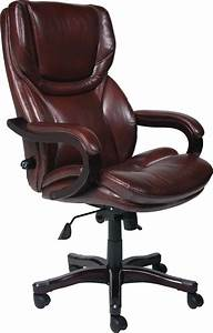 Desk chairs high back brown leather executive office for Chair back covers for leather chairs