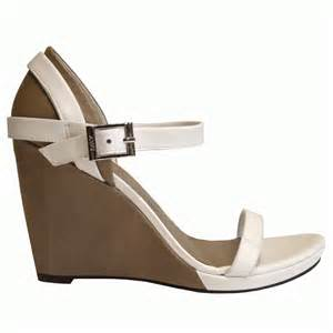 armani jeans beige amp white wedge sandal wedges from